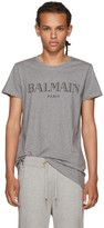 Balmain Grey Logo T-Shirt