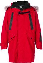DSQUARED2 logo print hooded coat