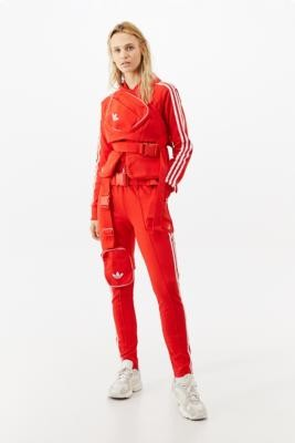 adidas X Ji Won Choi X Olivia O'Blanc Red Track Pants - Red UK 6 at Urban Outfitters