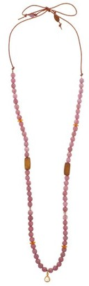Musa By Bobbie - Diamond, Ruby, Amber & 18kt Gold Charm Necklace - Pink