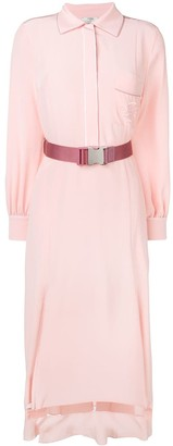 Fendi belted flared shirt dress