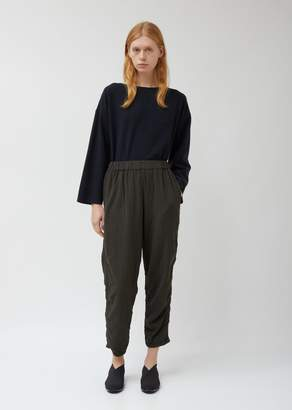 Black Crane Quilted Easy Pants