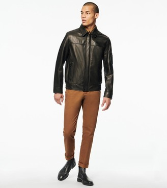 Andrew Marc Balthazar Bomber Jacket With Collar