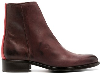 Paul Smith Constrast Trim Ankle Boots