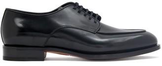 Santoni Leather Derby Shoes - Black
