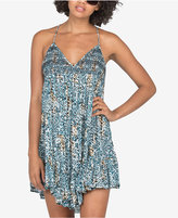 Volcom Juniors' High Water Printed Crisscross-Strap Dress