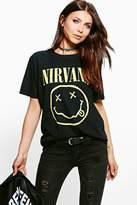 Boohoo Katie Nirvana Licence Print Band T-Shirt