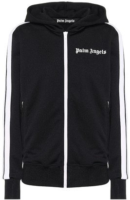 Palm Angels Logo technical-jersey track jacket