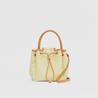 Burberry Monogram Motif Canvas and Leather Bucket Bag