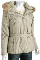 khaki poly down 'Anorak' hooded jacket