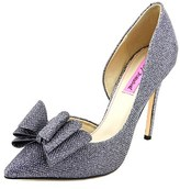 Betsey Johnson Prince Women Pointed Toe Canvas Heels.