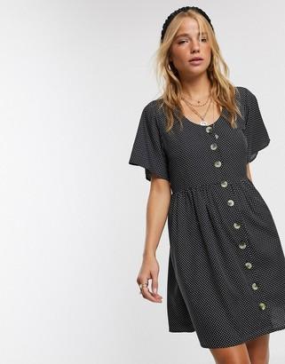 Influence smock dress in polka dot
