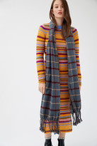 Urban Outfitters Frenchie Checkered Fringe Scarf