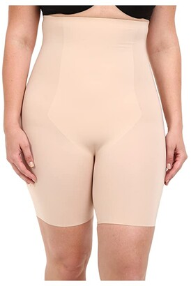Spanx Thinstincts High-Waisted Mid-Thigh Short (Soft Nude) Women's Underwear
