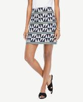 Ann Taylor Petite Triangle Stripe Jacquard Skirt