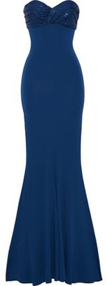 Alexandre Vauthier Strapless Crystal-embellished Stretch-jersey Gown