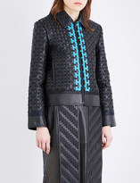 Martina Spetlova Woven leather jacket