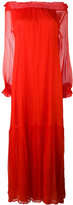 P.A.R.O.S.H. long off the shoulder dress - women - Silk/Polyester - M