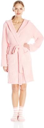 Ahh By Rhonda Shear Women's Marshmallow Robe with Stripe Slipper Socks