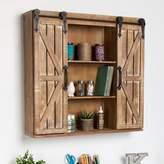 """Laurel Foundry Modern Farmhouse Walhalla Rustic Wood Storage 30"""" W x 27.25"""" H Wall Mounted Cabinet"""