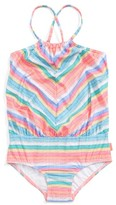Seafolly Girl's Candy Pop One-Piece Swimsuit