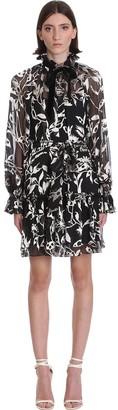 Zimmermann Dress In Black And White Silk