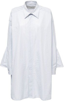Maison Margiela Striped Cotton Poplin Long Shirt