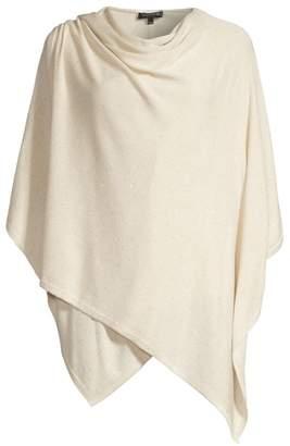 Lafayette 148 New York Glitter Stretch Virgin Wool Poncho
