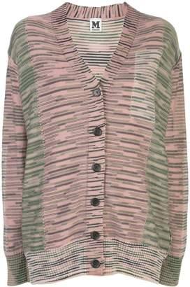 M Missoni striped fine knitted cardigan