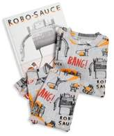 Toddler's & Little Boy's Two-Piece 'Robo Sauce' Pajama & Book Set