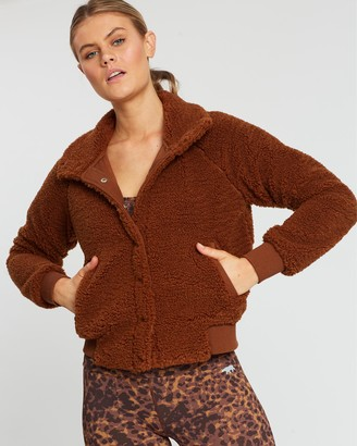 Running Bare Fur Sure Faux Fur Bomber Jacket