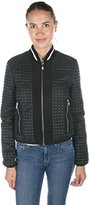 Armani Jeans Women's Blouson Quilted Nylon Jacket with Contrast Trim