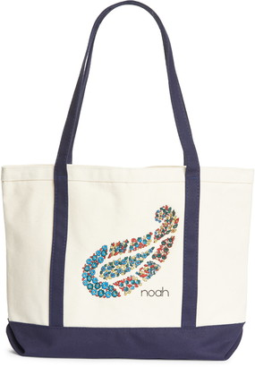 Noah Floral Paisley Embroidered Canvas Tote