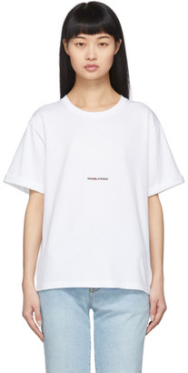 Saint Laurent White Logo T-Shirt