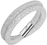 Swarovski Stardust Crystal and Stainless Steel Mesh Wrap Bracelet