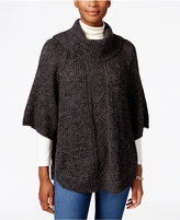Karen Scott Cable-Knit Cowl-Neck Poncho, Only at Macy's
