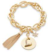 RJ Graziano L Initial Chain-Link Charm Bracelet