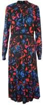 Hunter Bell Black Casper Floral-Print Women's Size 2 A-Line Dress
