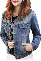 Buckdirect Worldwide Ltd. Casual Pocket Long Sleeve Denim Slim Jacket