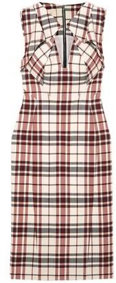 Antonio Berardi Folded Checked Wool And Mohair-blend Dress