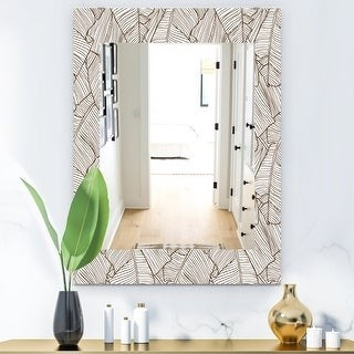 Design Art Designart Leaves Of Palm Tree Bohemian And Eclectic Mirror Wall Mirror Shopstyle