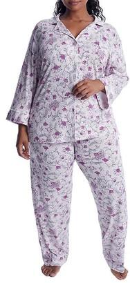 Lauren Ralph Lauren Plus Size Pink Floral Knit Pajama Set