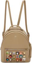 Fendi Beige Mini Studded Backpack