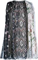 Giambattista Valli multi floral print pleated shell top - women - Silk - 40