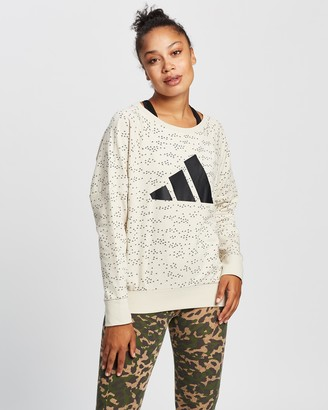 adidas Women's Neutrals Sweats - Winners Badge of Sport Crew Sweatshirt - Size XS at The Iconic