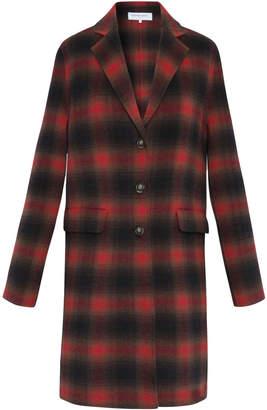 Gerard Darel Checkered Wool-blend Penelope Coat