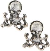 Carole Silvertone Octopus Stud Earrings