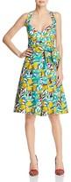 Paule Ka Printed Tie-Detail Dress