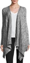 Three Dots Savanna Draped Cardigan, Granite