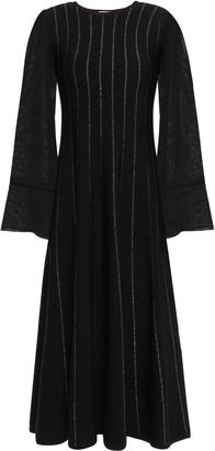 Roksanda Metallic Stretch-knit Midi Dress